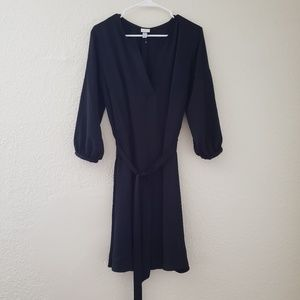 3/4 Sleeve Crepe Dress - A New Day™ Black L